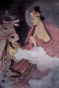 Foto da partida do Príncipe Siddhartha