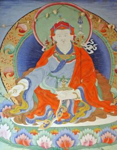 Padmasambhava. Pintura na ponte de Paro (Bhutan)