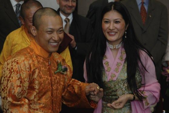 Foto do casamento do Sakyong e da Sakyong Wangmo